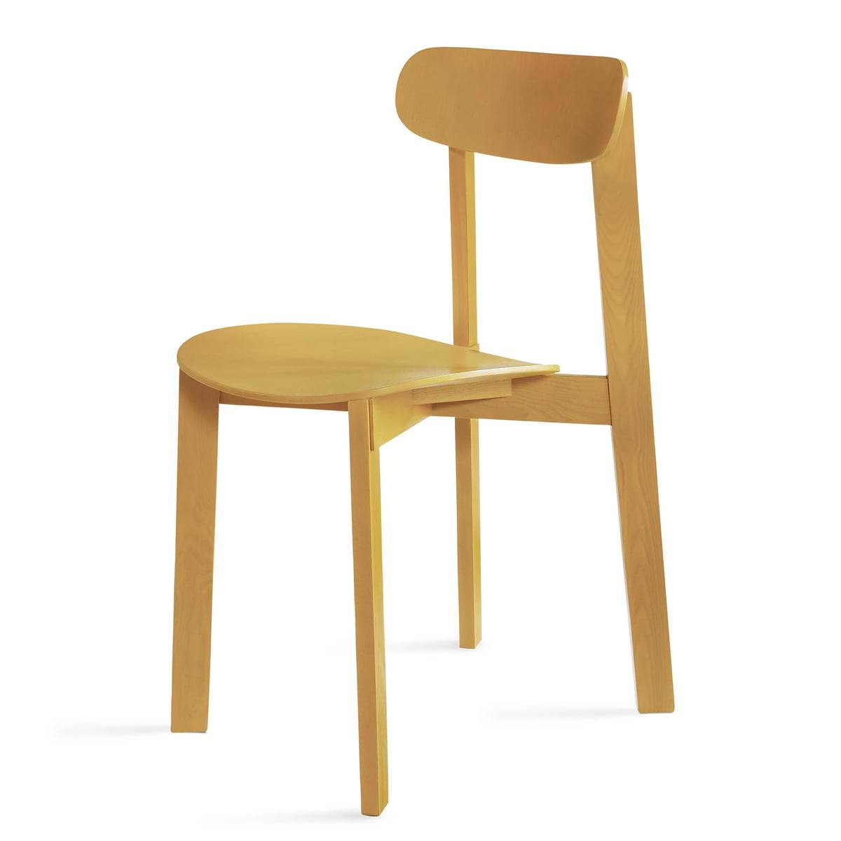 Please wait to be seated - Chaise bondi, jaune curcuma