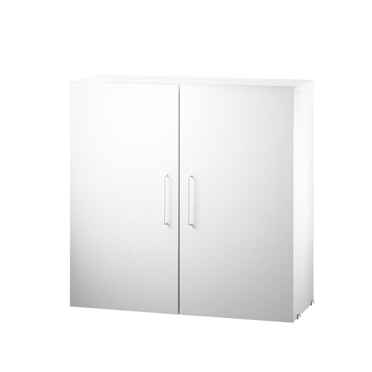String - Module d'armoire avec deux étagères, blanc