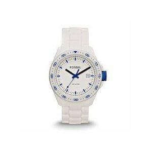 Fossil Bracelet de montre (Combinaison bracelet + cas) Fossil AM4502 Silicone Blanc 22mm