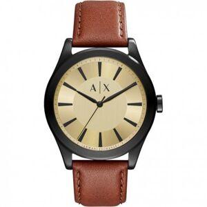 Giorgio Armani Bracelet de montre Armani Exchange AX2329 Cuir Brun 22mm