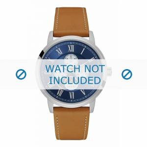 Guess bracelet de montre W0870G4 Delancy Cuir Brun clair 22mm + coutures blanches