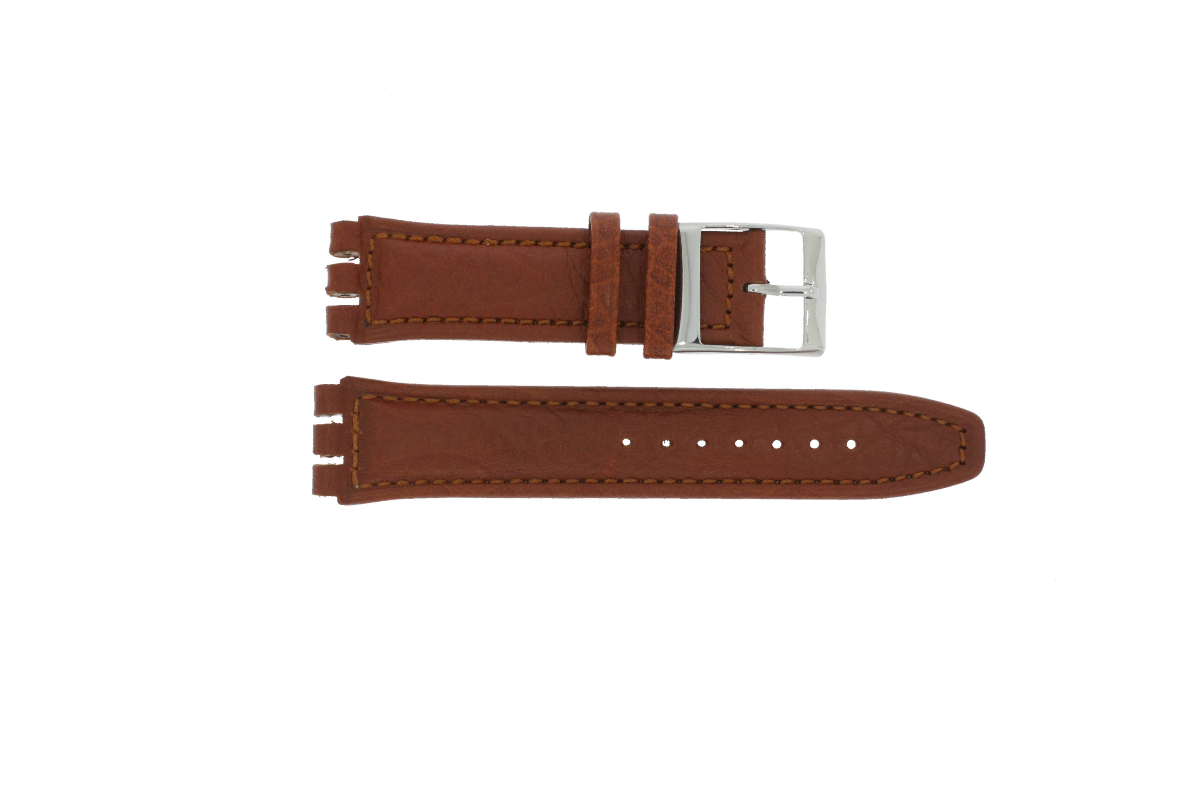 Alternative Swatch Bracelet de montre Swatch (alt.) 247.02PL Cuir Brun 19mm