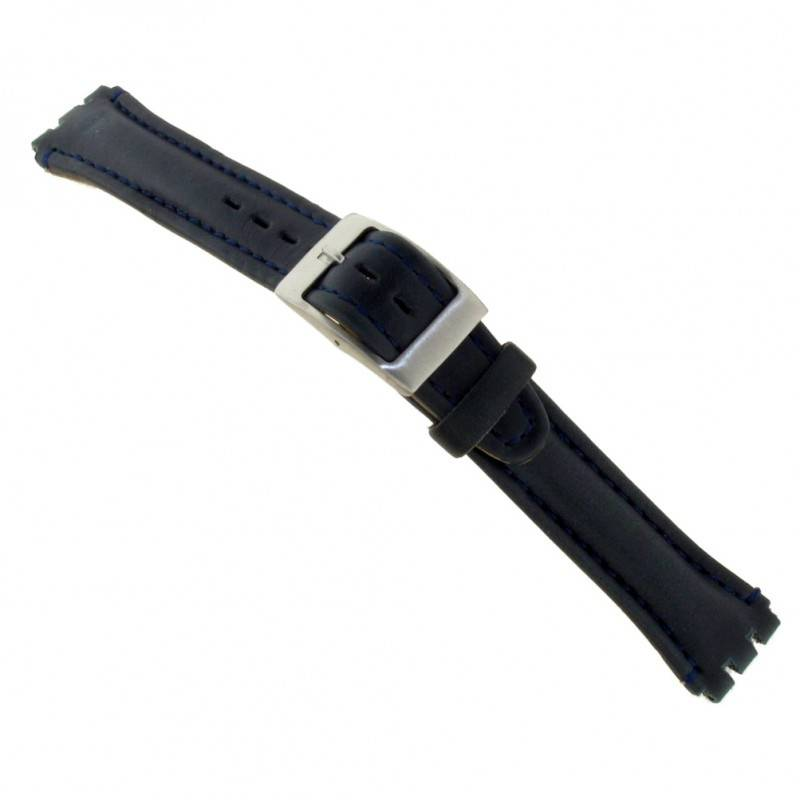 Alternative Swatch Bracelet de montre Swatch (alt.) 51643.01.19 Cuir Noir 19mm