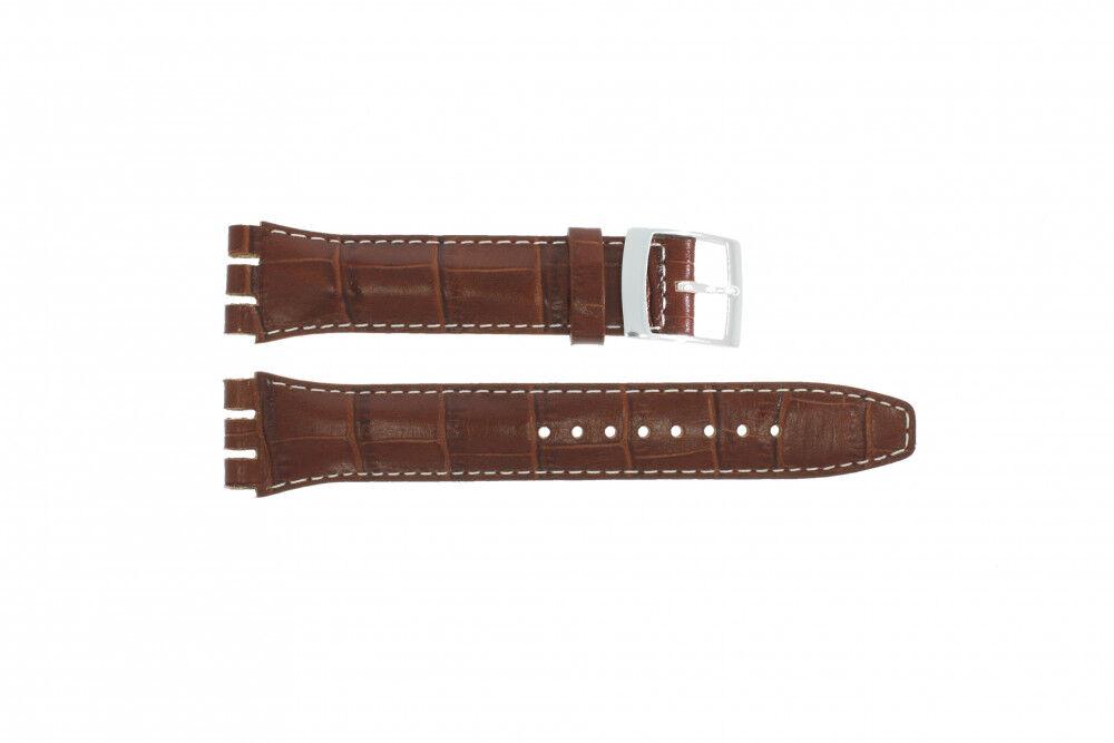 Alternative Swatch Bracelet de montre Swatch (alt.) 51643.94.19C Cuir Brun 19mm