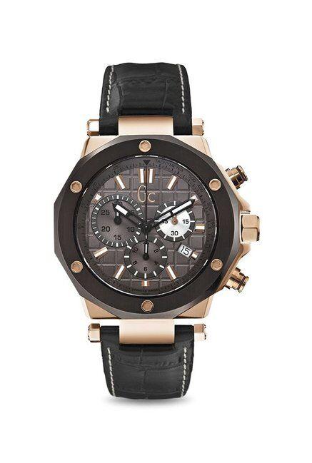 Guess Bracelet de montre Guess GCX72024G5S Cuir Noir