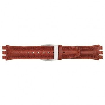 Alternative Swatch Bracelet de montre Swatch (alt.) 247.07M Cuir Brun 19mm