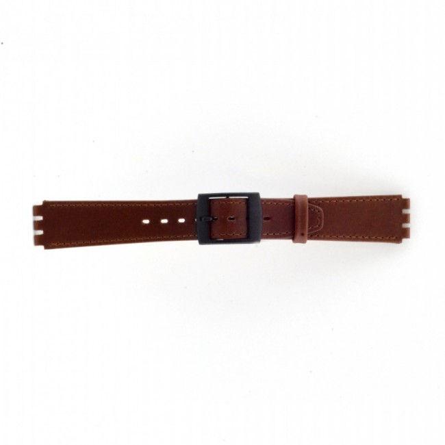 Alternative Swatch Bracelet de montre Swatch SC15.02 Cuir Brun 16mm