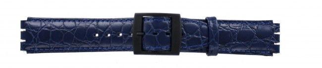 Alternative Swatch Bracelet de montre Swatch SC10.05 Cuir Bleu 17mm