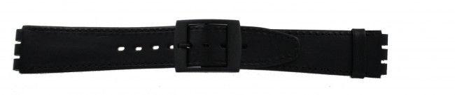 Alternative Swatch Bracelet de montre Swatch (alt.) SC15.01 Cuir Noir 16mm