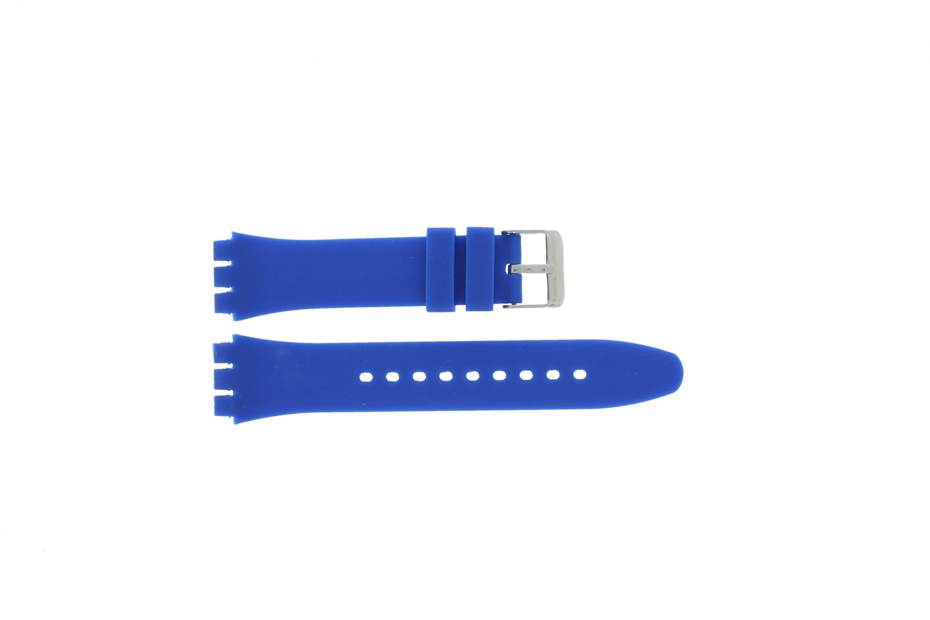 Alternative Swatch Bracelet de montre alternative adaptée à Swatch S07 Silicone Bleu 19mm