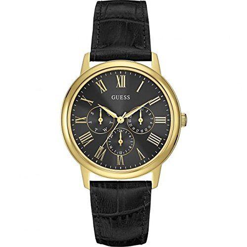 Guess Bracelet de montre Guess W0496G5 Cuir Noir 20mm