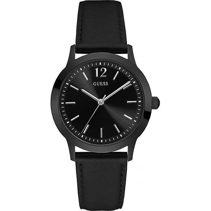 Guess Bracelet de montre Guess W0922G5 Cuir Noir