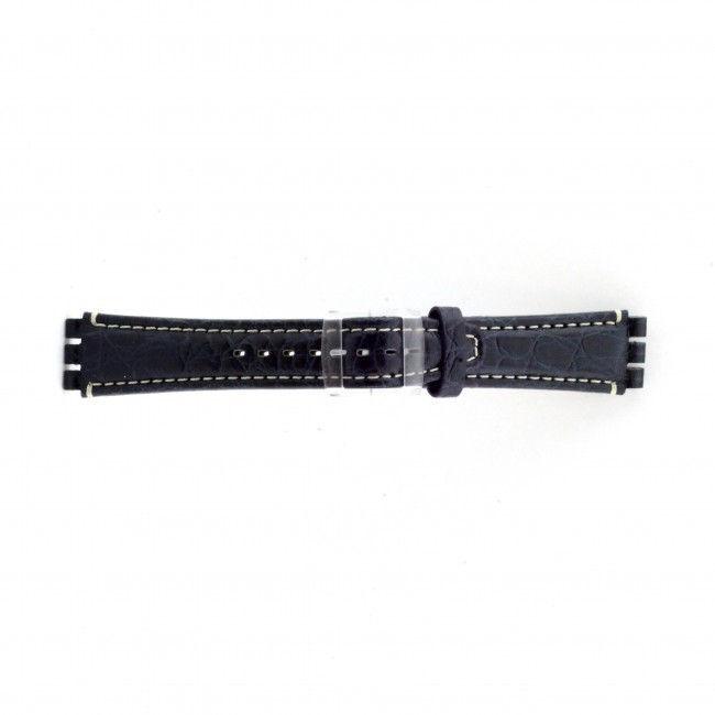 Alternative Swatch Bracelet de montre Swatch (alt.) ES.IRON-2.05 Cuir Bleu 19mm