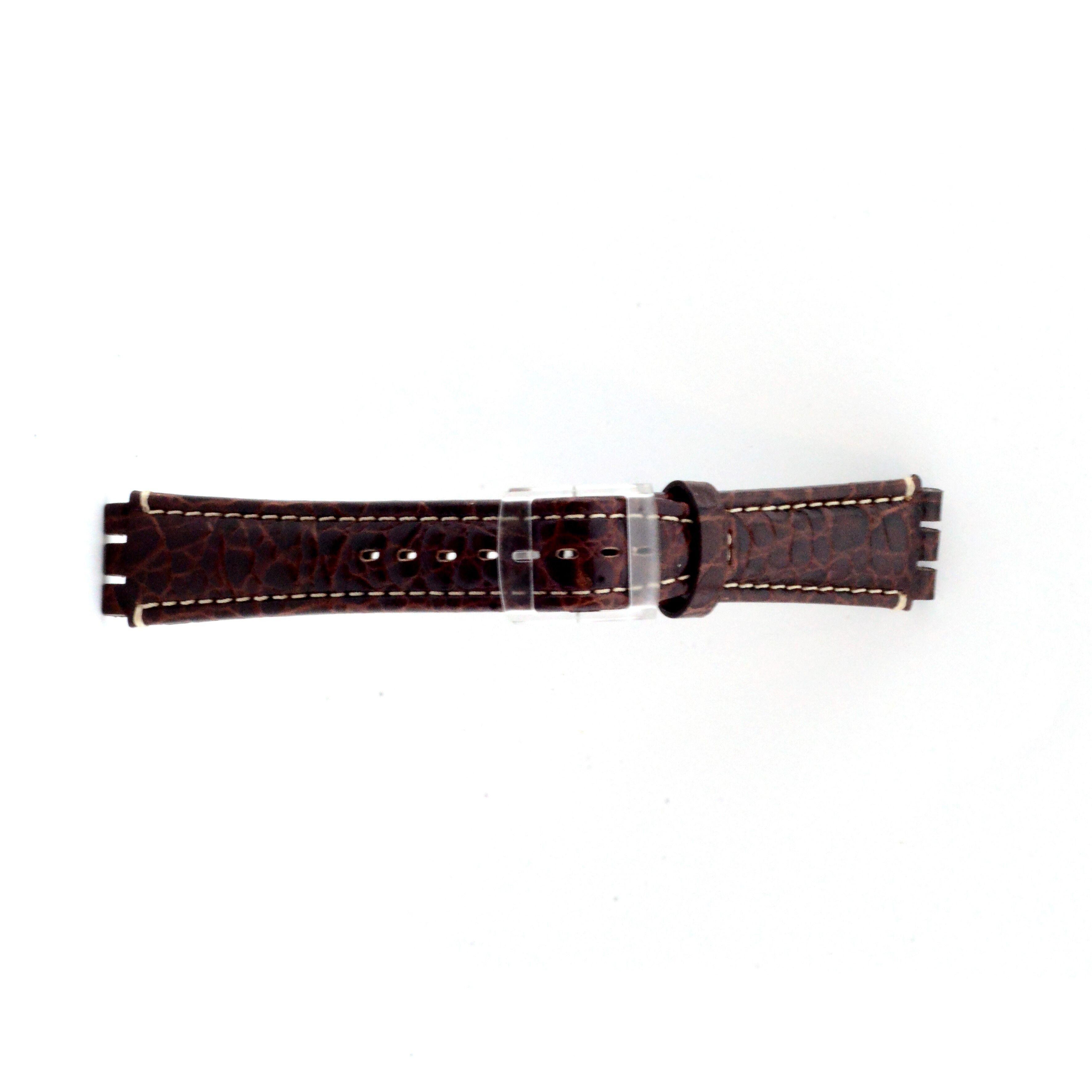Alternative Swatch Bracelet de montre Swatch (alt.) ES.IRON-2.02 Cuir Brun 19mm