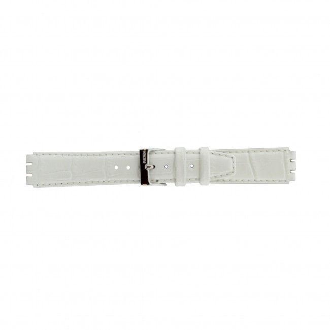 Alternative Swatch Bracelet de montre Swatch (alt.) 21414.11 Cuir Blanc 17mm