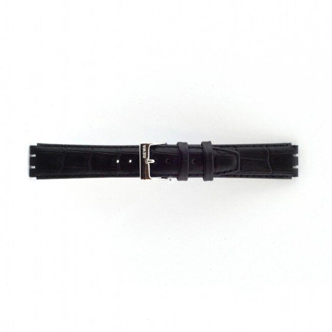 Alternative Swatch Bracelet de montre Swatch 21414.10.17.C Cuir Noir 17mm