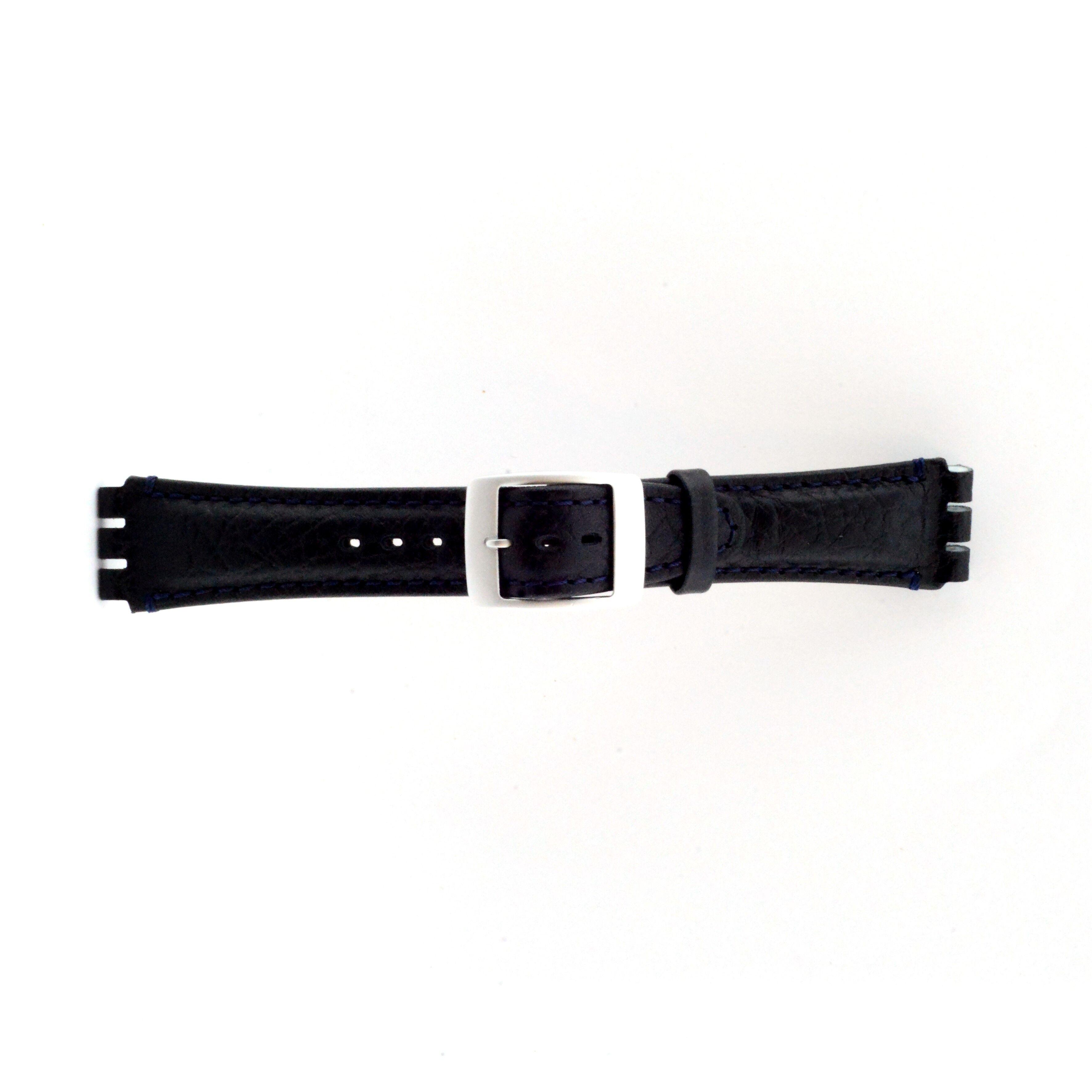 Alternative Swatch Bracelet de montre Swatch (alt.) SC14.05 Cuir Bleu 19mm