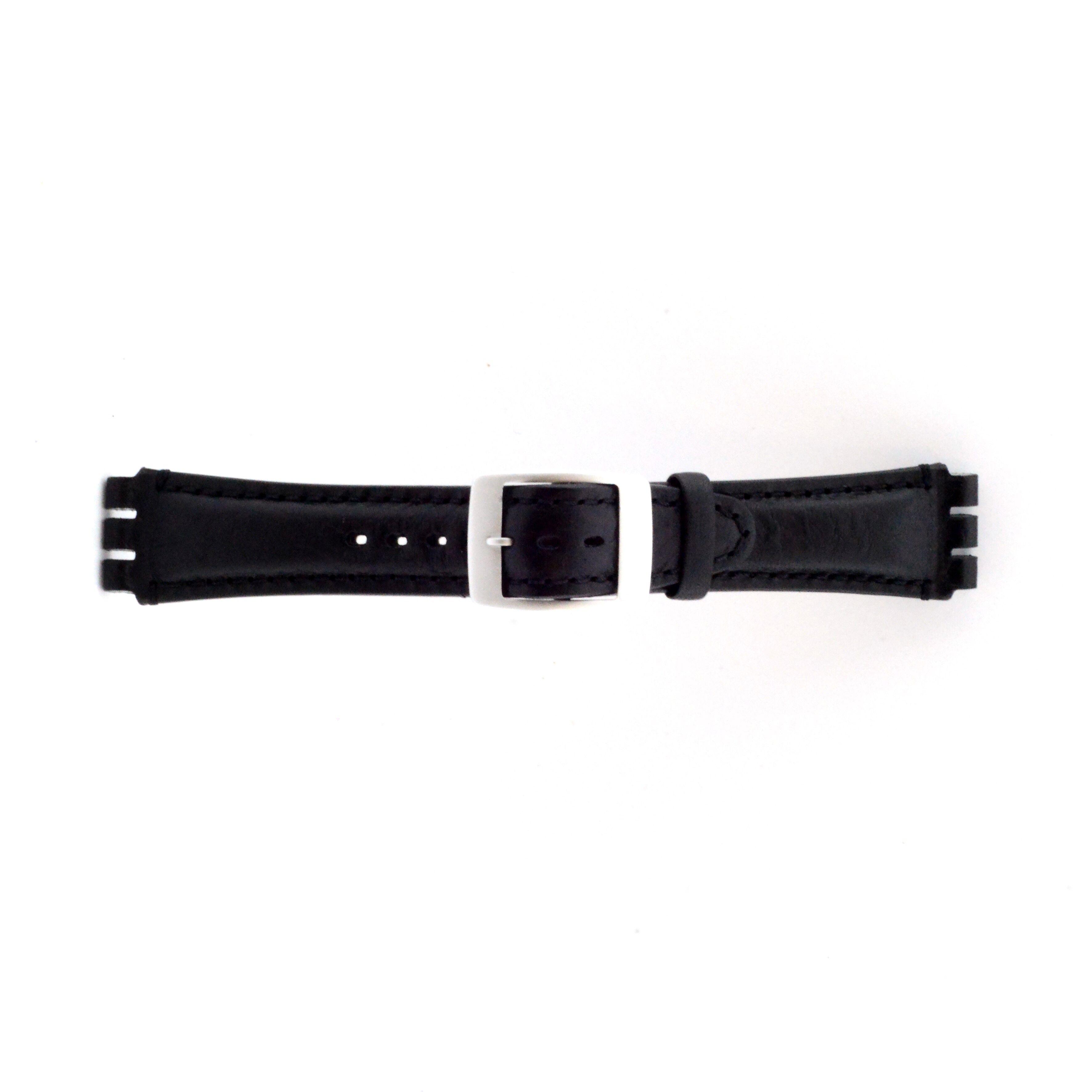 Alternative Swatch Bracelet de montre Swatch SC14.01 Cuir Noir 19mm