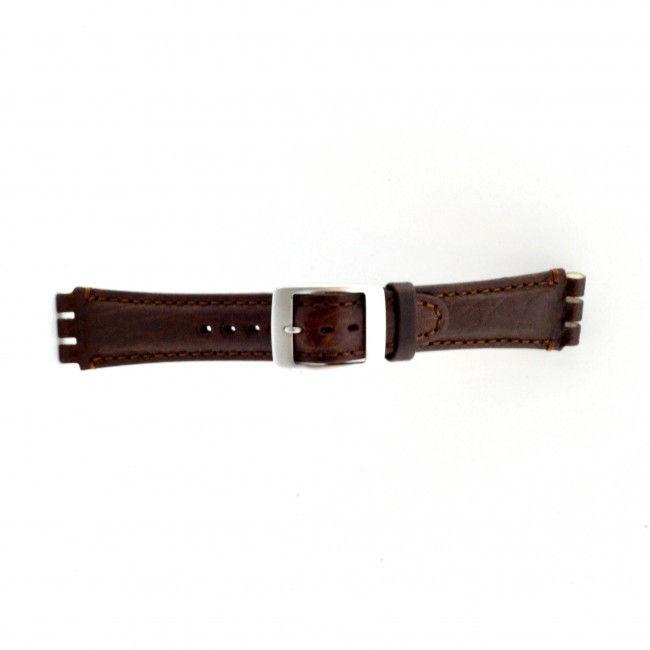 Alternative Swatch Bracelet de montre Swatch (alt.) SC14.02 Cuir Brun 19mm