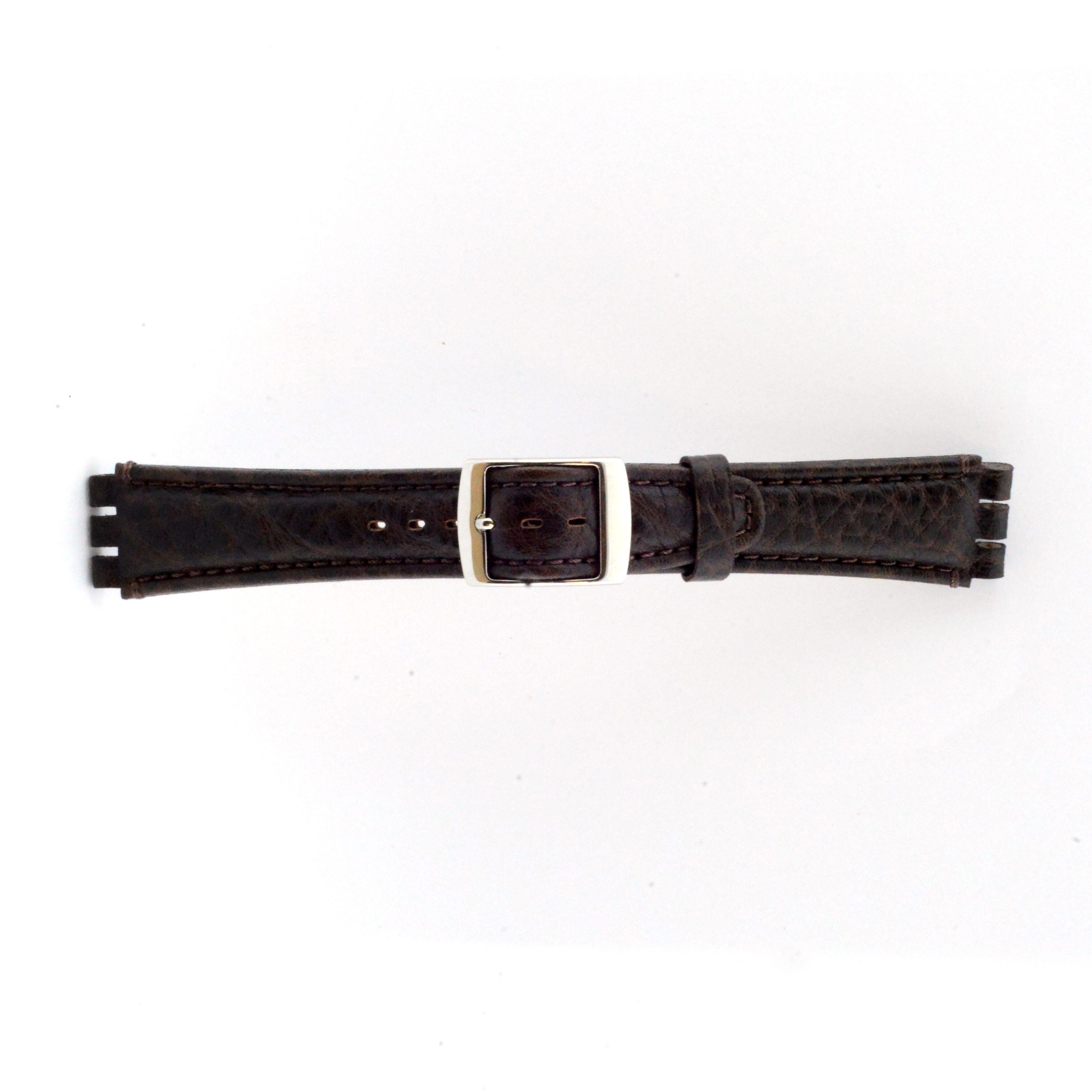 Alternative Swatch Bracelet de montre Swatch (alt.) 21412.27 Cuir Brun 19mm