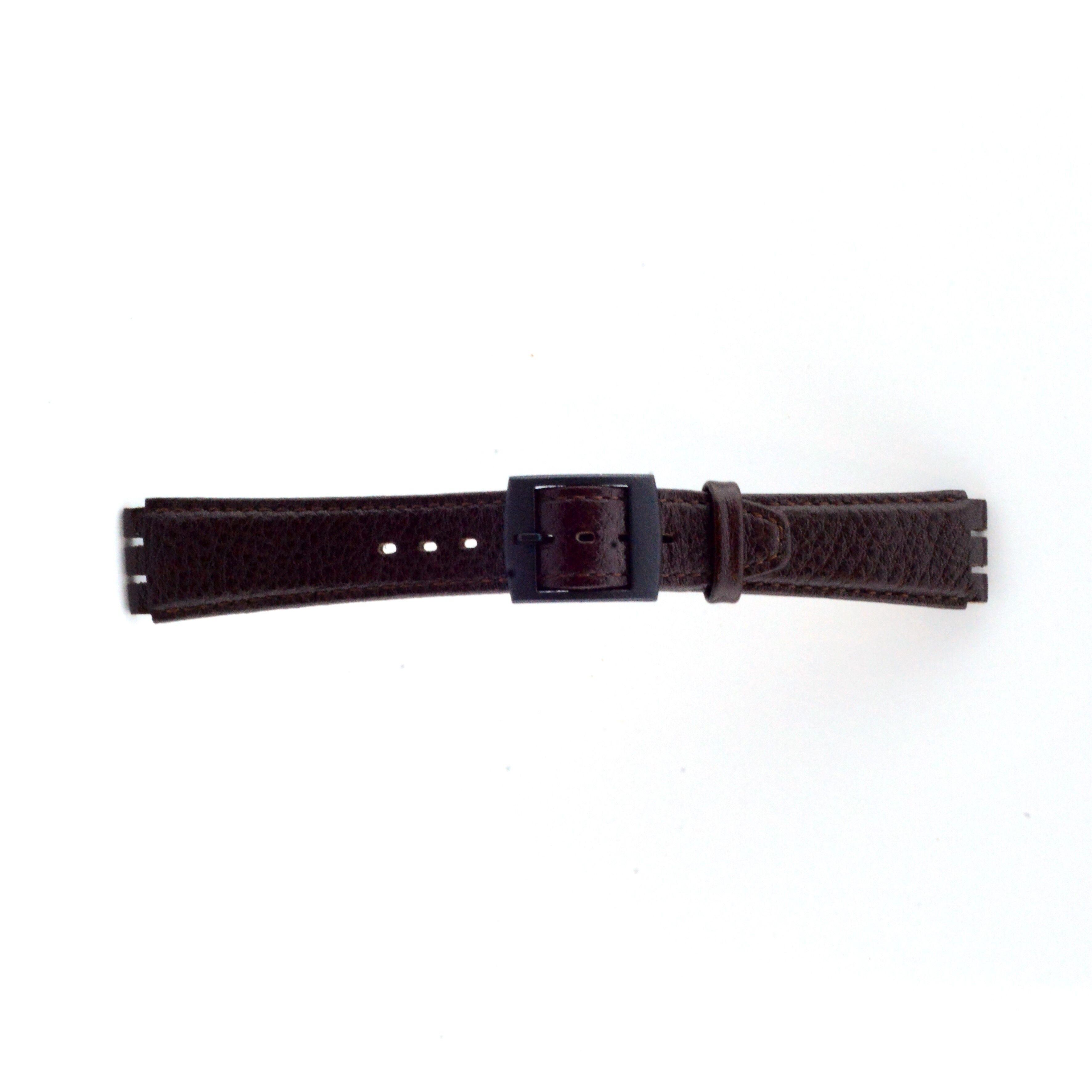Alternative Swatch Bracelet de montre Swatch SC04.02 Cuir Brun 17mm