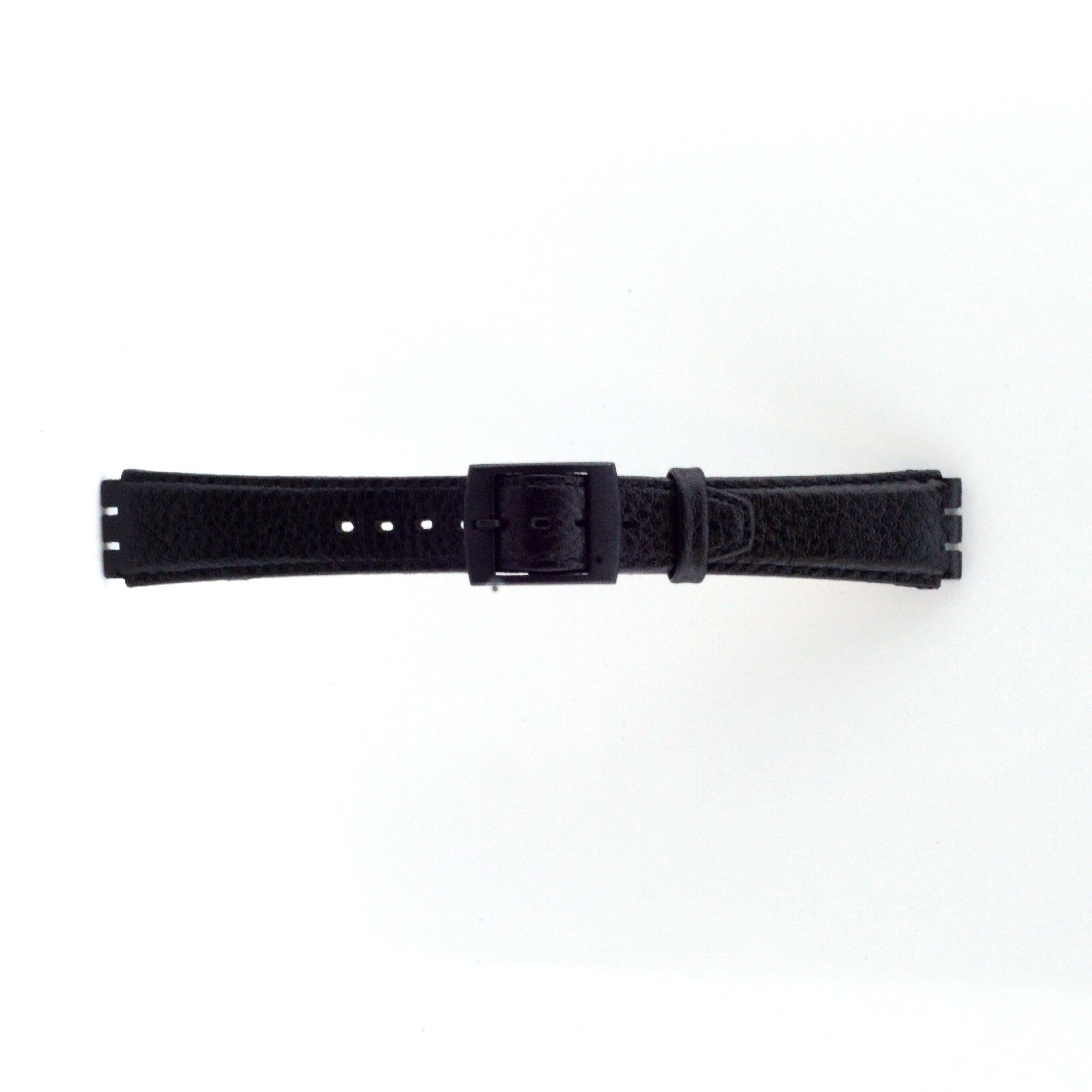 Alternative Swatch Bracelet de montre Swatch (alt.) SC04.01 Cuir Noir 17mm