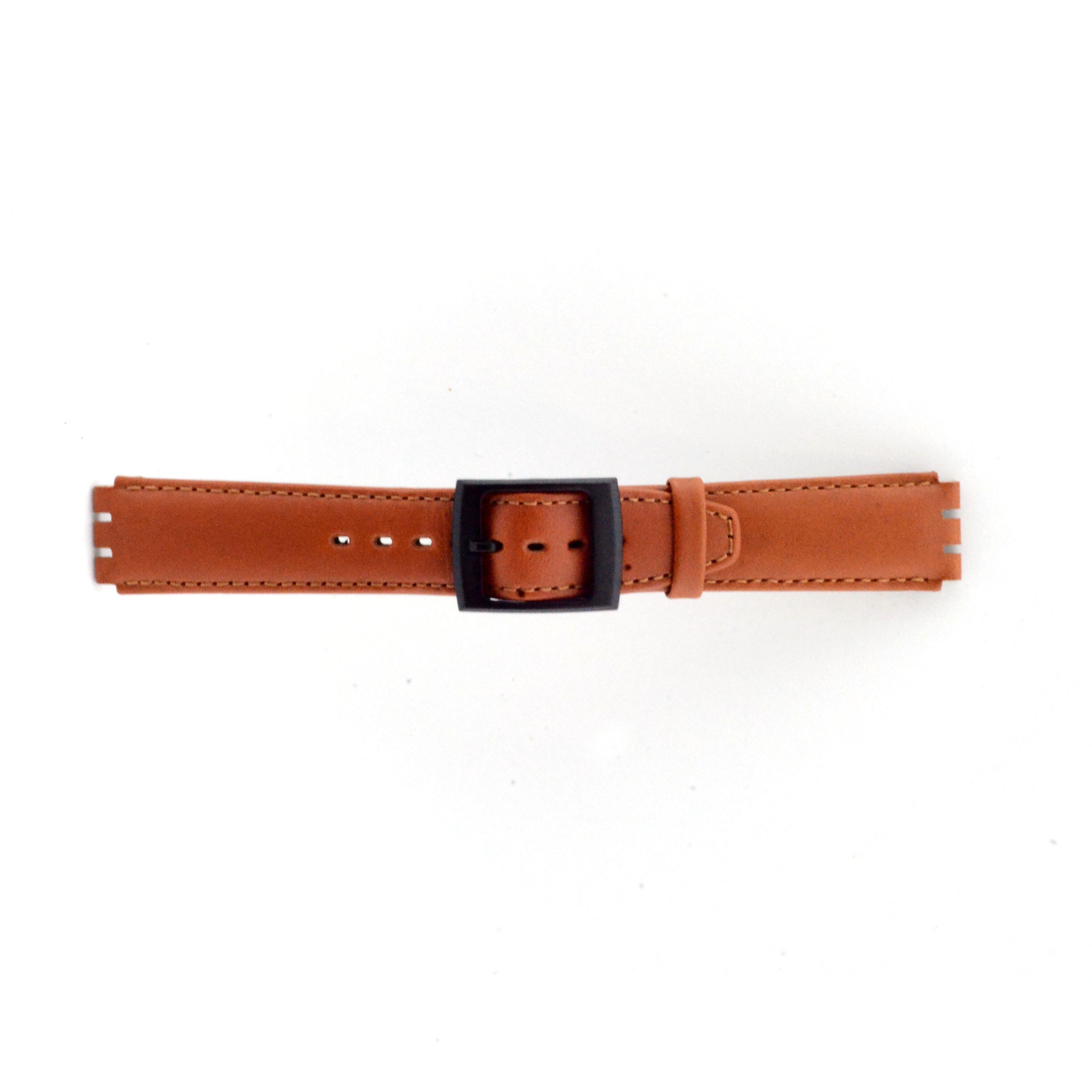 Alternative Swatch Bracelet de montre Swatch SC11.03 Cuir Brun 17mm