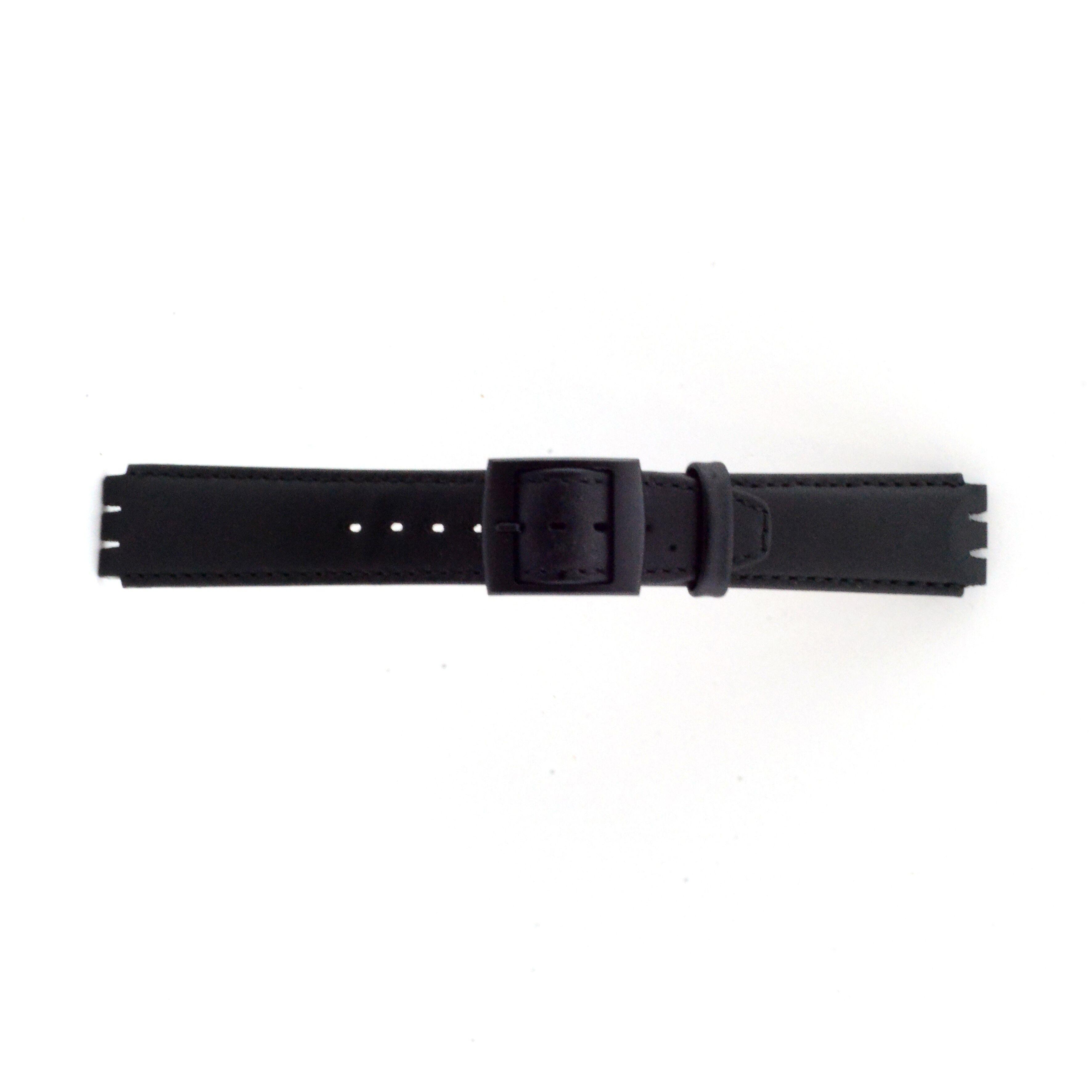 Alternative Swatch Bracelet de montre Swatch (alt.) SC11.01 Cuir Noir 17mm