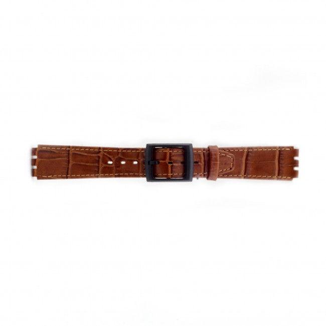 Alternative Swatch Bracelet de montre Swatch (alt.) SC16.03 Cuir Brun 16mm