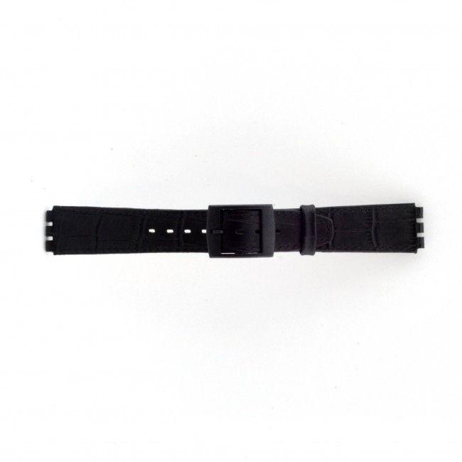 Alternative Swatch Bracelet de montre Swatch SC16.01 Cuir Noir 16mm