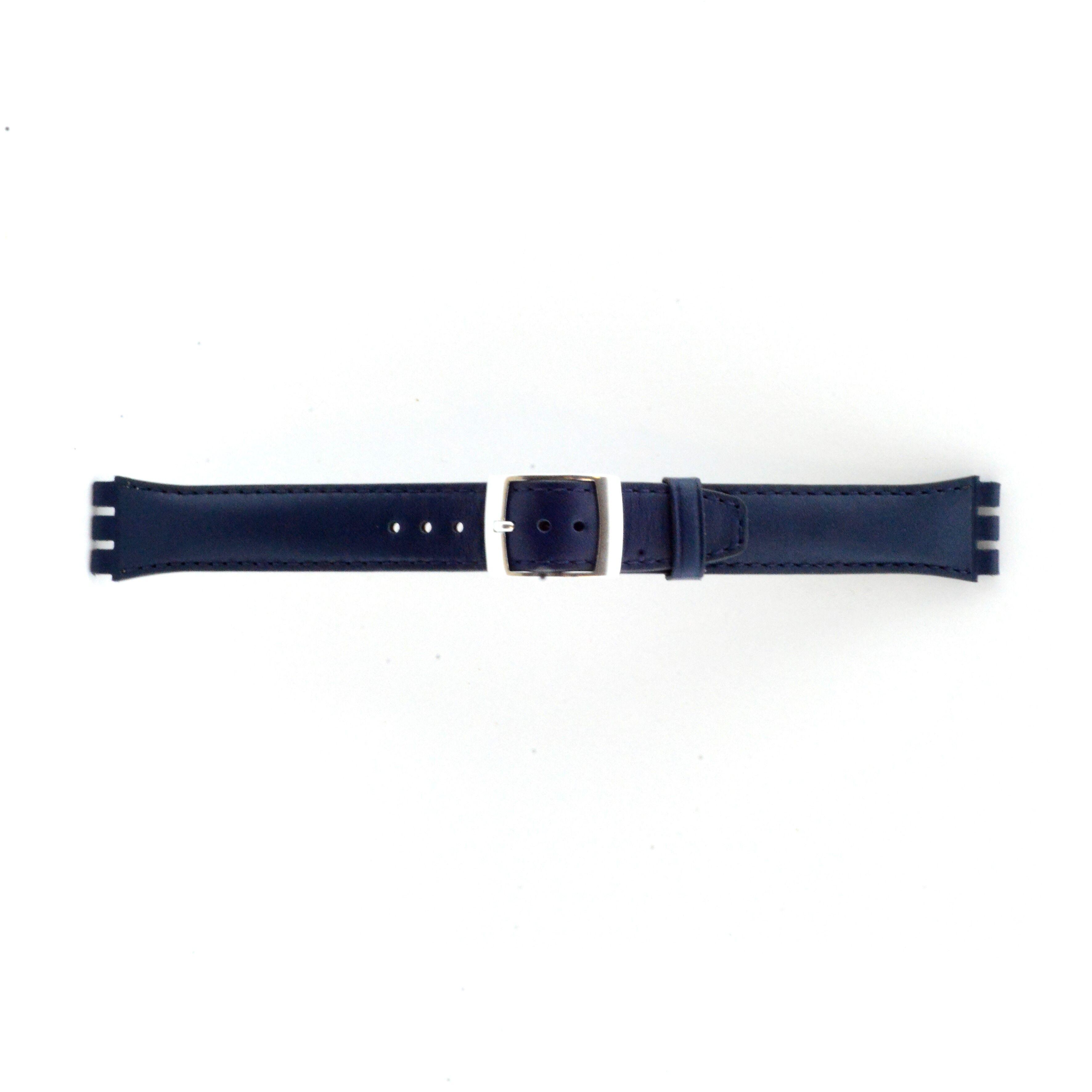 Alternative Swatch Bracelet de montre Swatch (alt.) 51643.06.MB Cuir Bleu 19mm