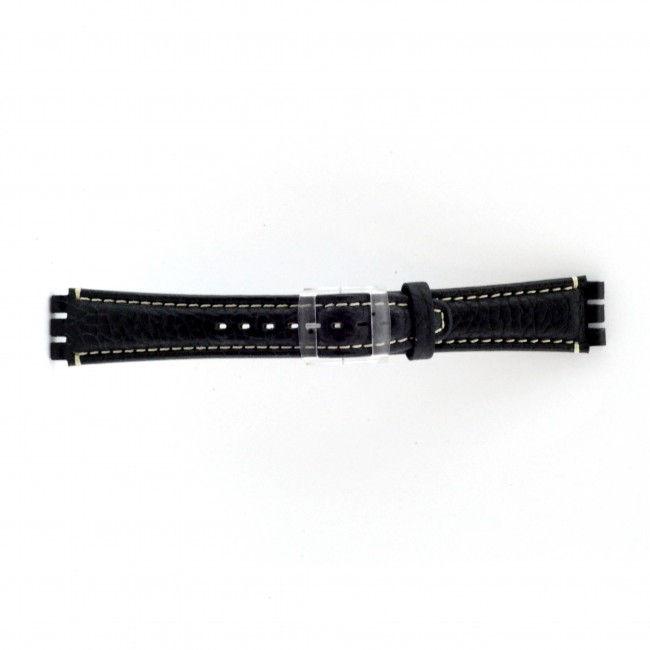 Alternative Swatch Bracelet de montre Swatch (alt.) ES.IRON-3.05 Cuir Bleu 19mm