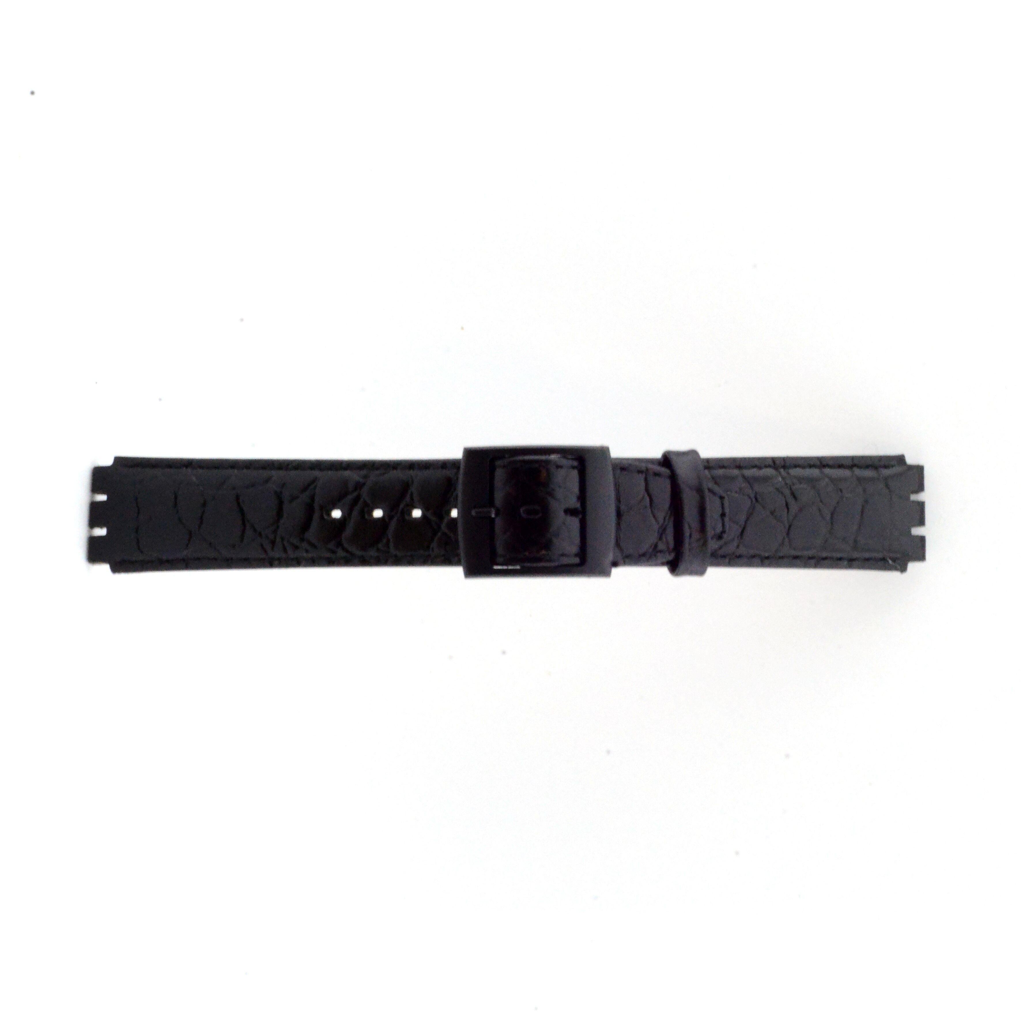 Alternative Swatch Bracelet de montre Swatch (alt.) SC10.01 Cuir Noir 17mm