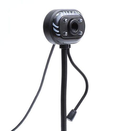 other Webcam USB Caméra col de cygne flexible 640 × 480P Ordinateur de bureau en ligne avec microphone d'annulation du bruit léger USB 1.1 / 2.0 pour la diffusion en direct de cours en ligne Vidéoconférence Compatible avec Windows 7.0 ou version ultér