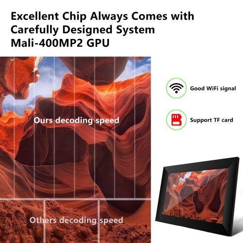 other P80 WiFi Cadre photo numérique 8 pouces 16 Go Smart Electronics Photo Frame APP Control Envoyer des photos Push Video Touch Screen 800x1280 IPS LCD Panel
