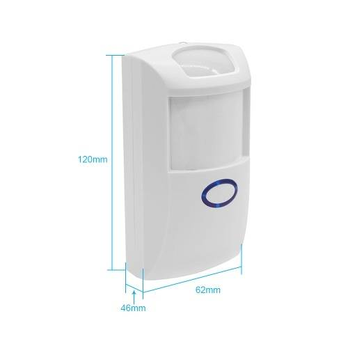 sonoff 2 PCS SONOFF PIR2 Détecteur infrarouge sans fil double 433Mhz RF Capteur de mouvement PIR Système d'alarme de sécurité domotique intelligent pour Amazon Alexa et Google Home