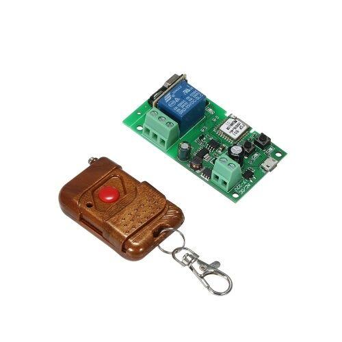 other eWeLink USB DC5V 12V 24V RF 433Mhz Commutateur Wifi Module de relais sans fil Modules de domotique intelligente Phone APP Télécommande Interrupteur Minuterie Compatible avec Amazon Alexa Google Home Commande vocale avec télécommande pour système de