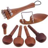 other Ensemble d'accessoires pour pièces de violon 4/4 en bois naturel Jujube