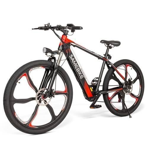 Samebike SH26 26 pouces vélo électrique à assistance électrique avec moteur sans balais 350W E-Bike avec double freins à disque Suspension fourche avant