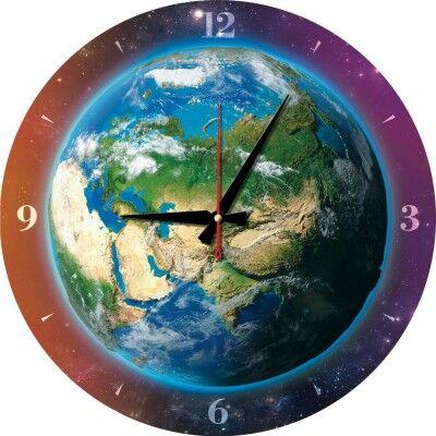 Puzzle Horloge - La Terre (Pile non fournie)