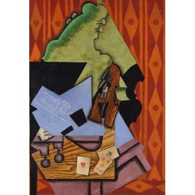 Juan Gris: Violon et Cartes à Jouer sur une Table, 1913