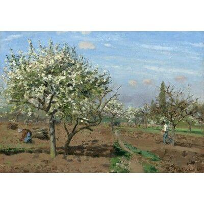 Camille Pissarro : Verger en Fleurs, Louveciennes, 1872