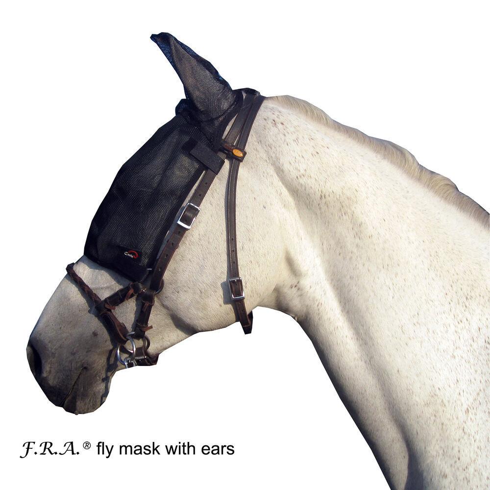 Cavallohorseriderfr F.R.A. Masque anti-mouches avec oreilles