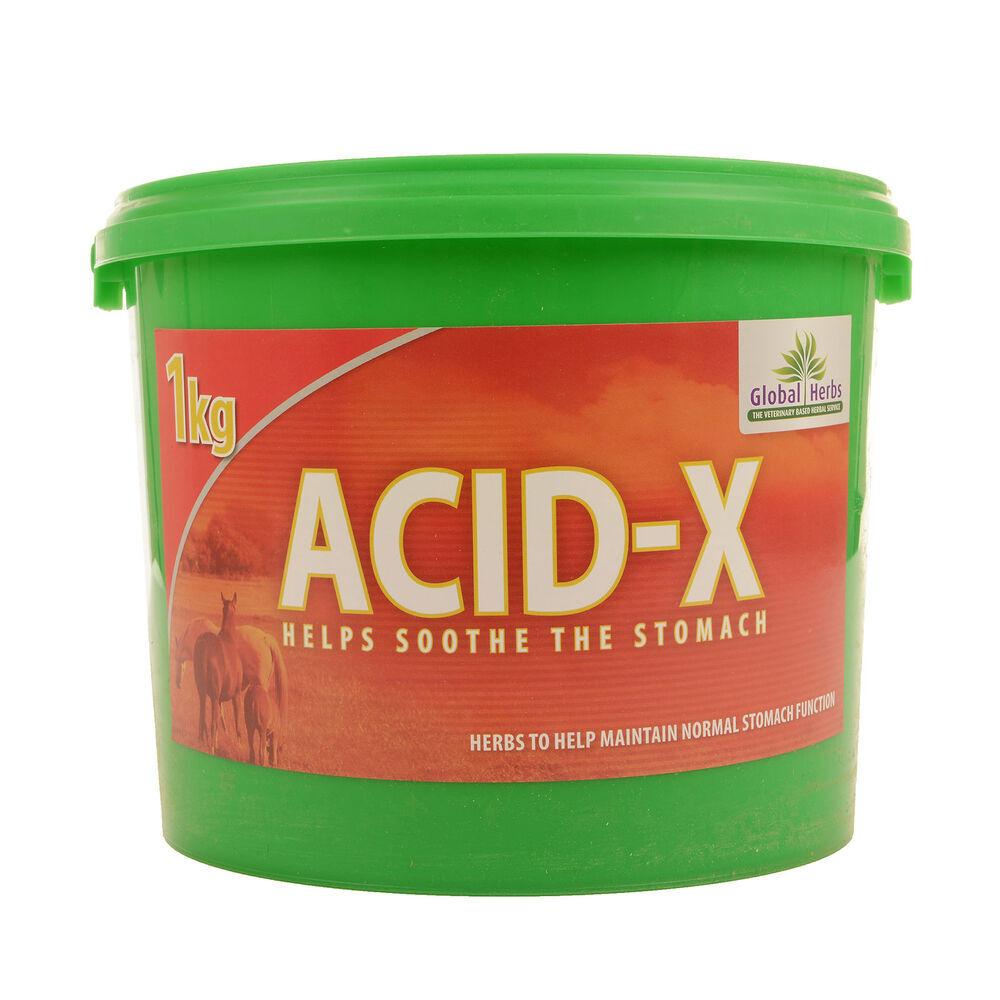 Global Herbs Complément alimentaire de soin anti-acidité gastrique Global Herbs Acid X, 1 kg