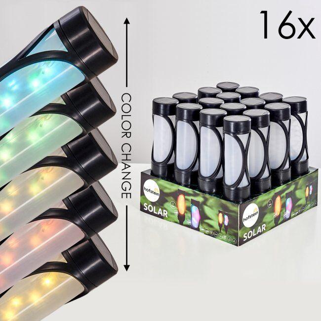 hofstein Set de lampes solaires Lakeland LED Noir, 1 lumière - Fun - Extérieur - Solarleuchte - Délai de livraison moyen: 6 à 10 jours ouvrés. Port gratuit France métropolitaine et Belgique dès 100 €.
