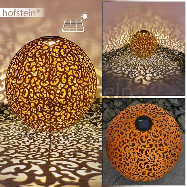 hofstein lampe solaire Paradiski LED Rouille, 1 lumière - Campagne/Vintage - Extérieur - Paradiski - Délai de livraison moyen: 6 à 10 jours ouvrés. Port gratuit France métropolitaine et Belgique dès 100 €.