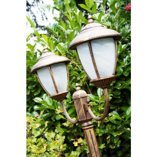 hofstein Réverbère Madrid Brun doré, 2 lumières - - - Madrid - Date de livraison inconnue. Port gratuit France métropolitaine et Belgique dès 100 €.