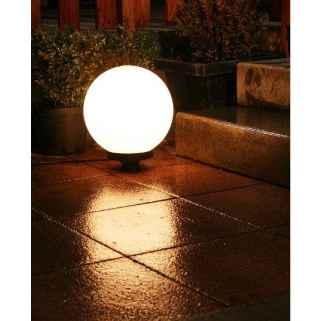 hofstein Boule lumineuse de jardin 20 cm Blanc, 1 lumière - Moderne - Extérieur - 30 - Délai de livraison moyen: 6 à 10 jours ouvrés. Port gratuit France métropolitaine et Belgique dès 100 €.