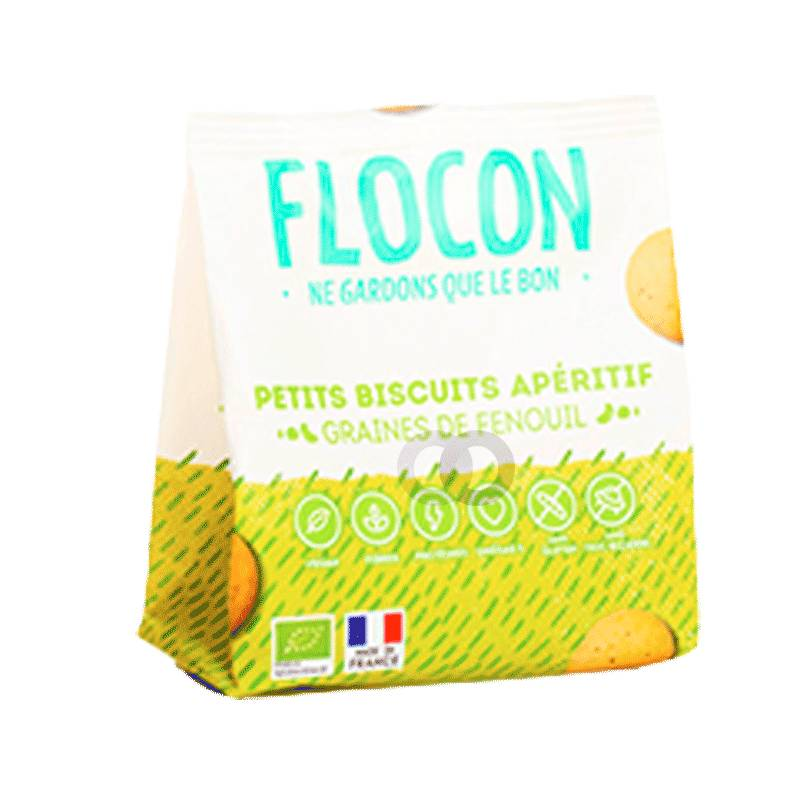 Flocon Petits Biscuits Fenouil Sans Gluten Bio Vegan - 80g - Flocon