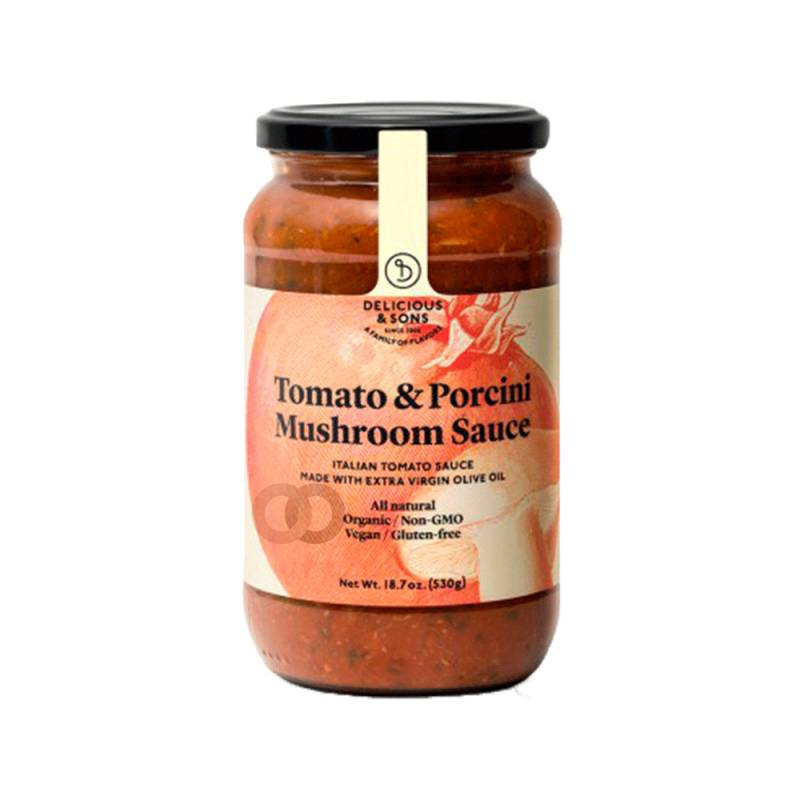 Delicious and sons Sauce Tomate Aux Champignons Porcini Bio - 530 Gr - Delicious And Sons
